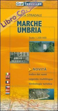 Marche e Umbria. Carta stradale 1:200.000