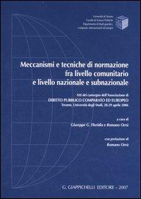 Meccanismi e tecniche di normazione fra livello comunitario e livello nazionale e subnazionale. Atti del convegno (Teramo, 28-29 aprile 2006)