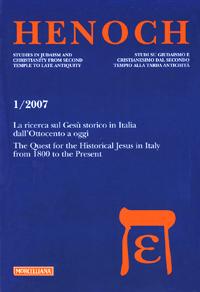 Henoch (2007). Vol. 1: La ricerca sul Gesù storico in Italia dall'Ottocento a oggi