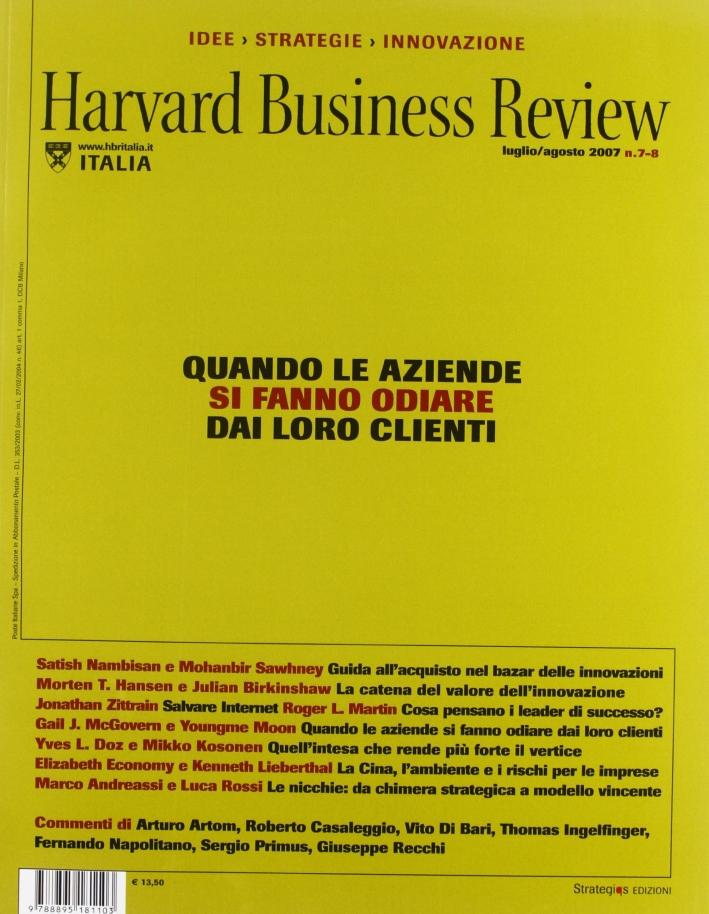 Harvard Business Review vol. 7-8