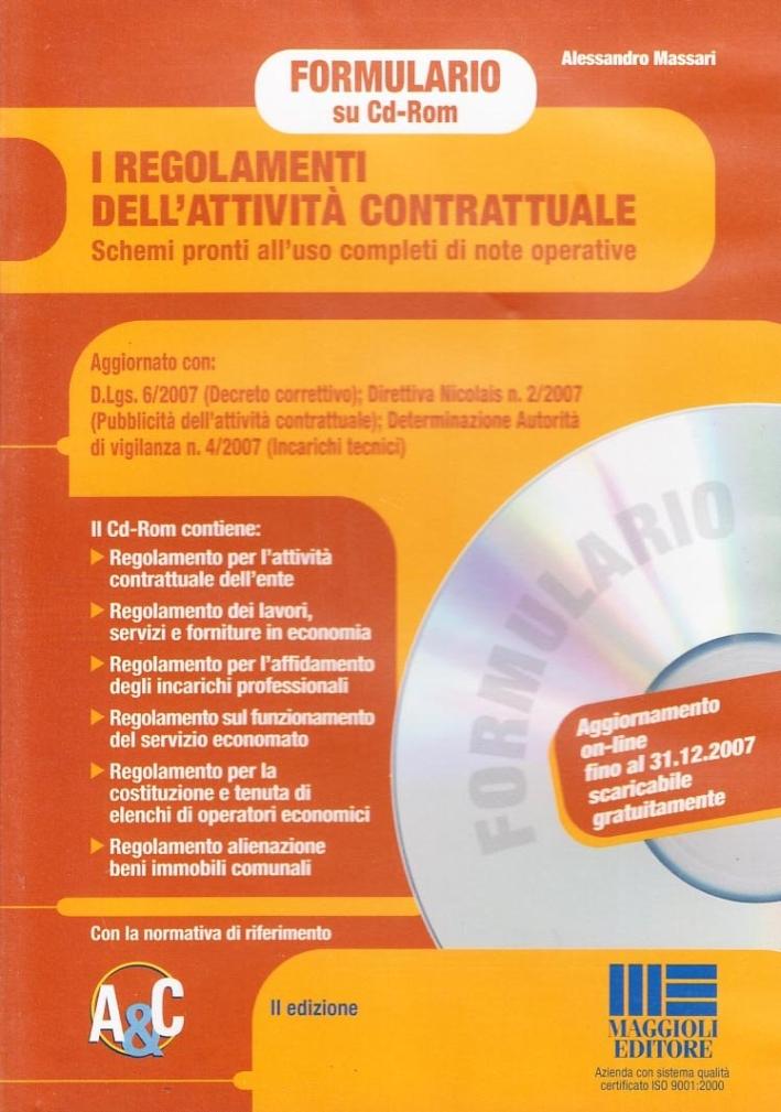 I regolamenti dell'attività contrattuale. CD-ROM