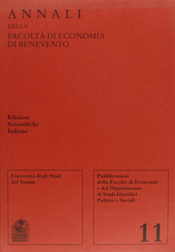 Annali della Facoltà di economia di Benevento. Vol. 11