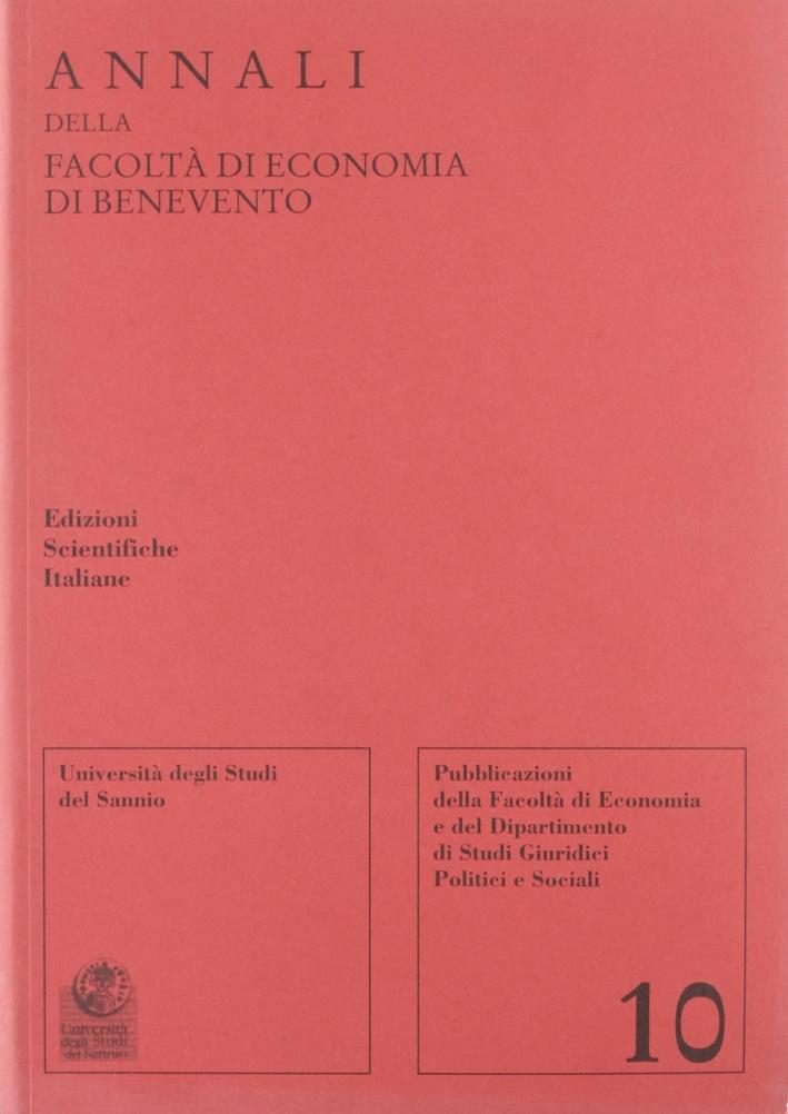 Annali della Facoltà di economia di Benevento. Vol. 10