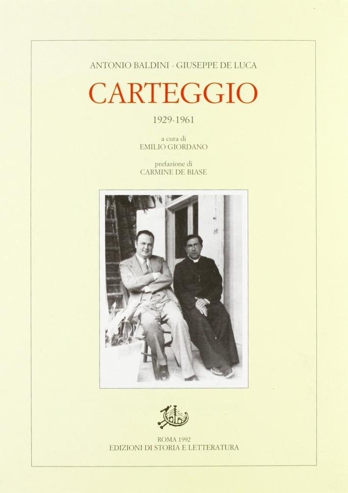 Carteggio (1929-1961)