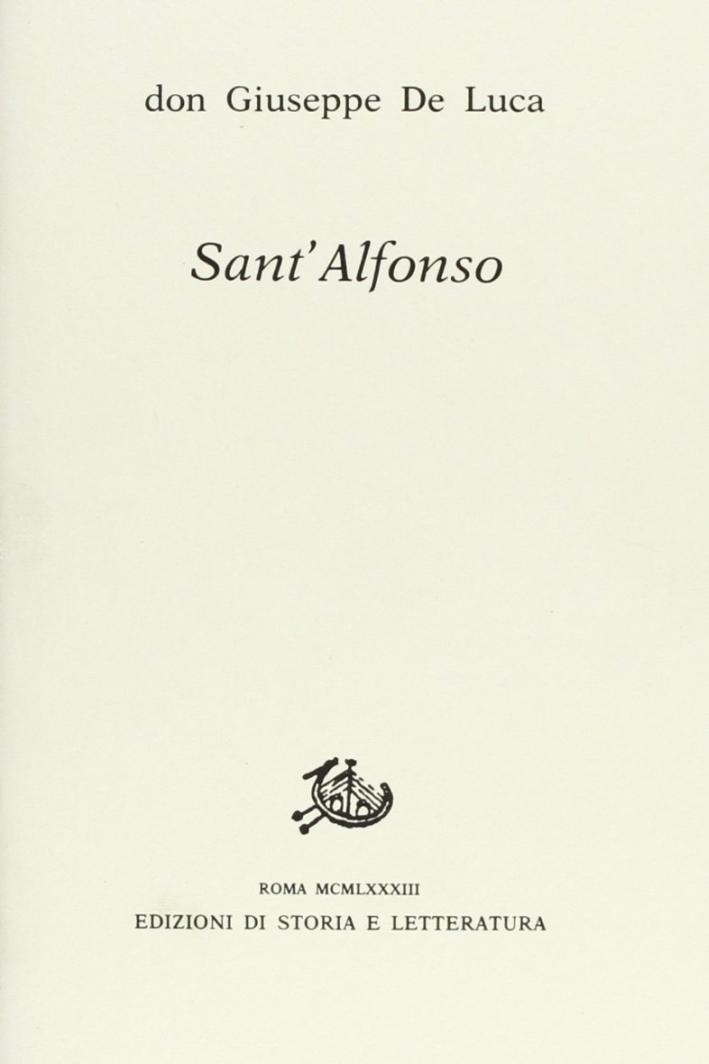 Sant'Alfonso il mio maestro di vita cristiana