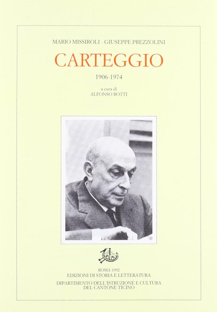 Carteggio (1906-1974)