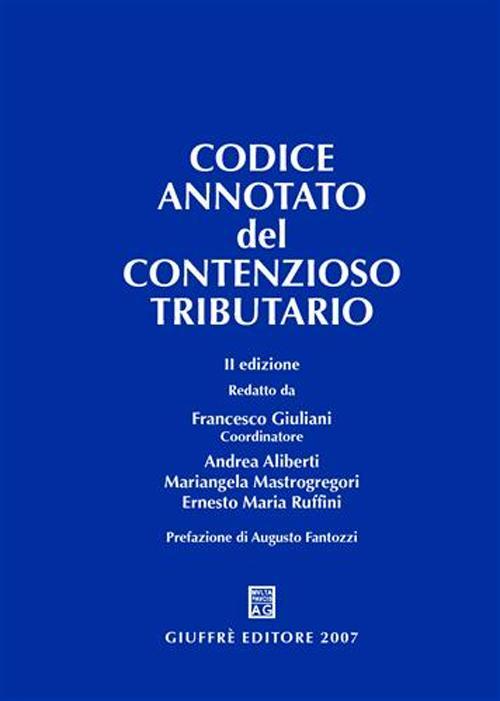 Codice annotato del contenzioso tributario