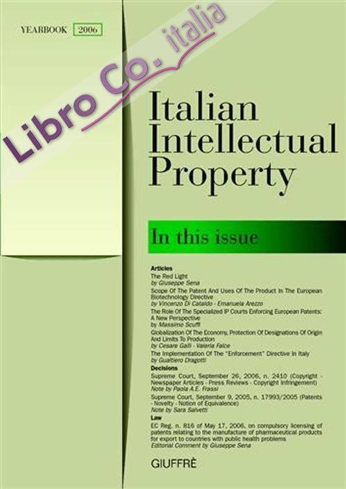 Italian intellectual property (2006).