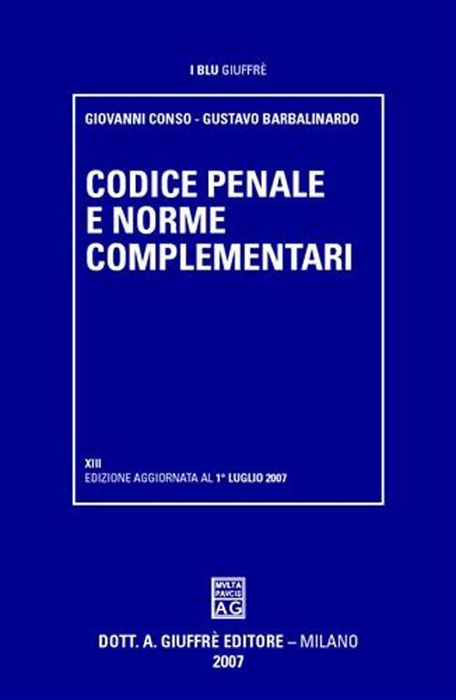 Codice penale e norme complementari