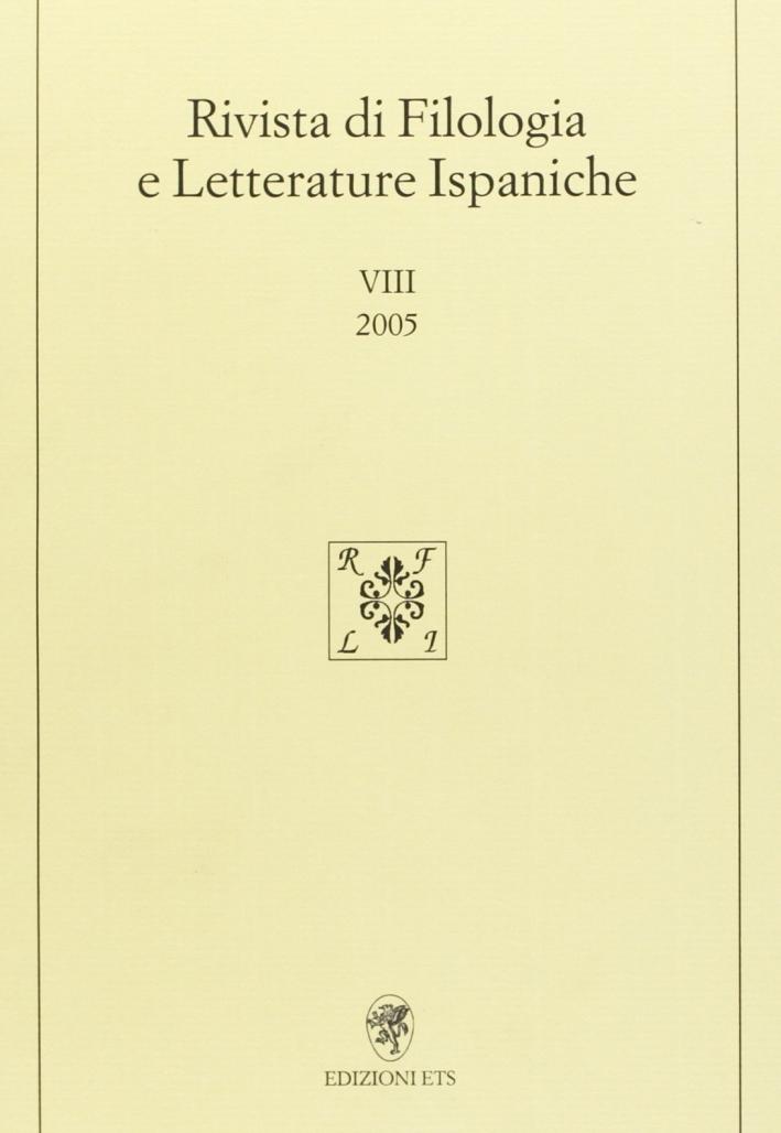 Rivista di filologia e letterature ispaniche