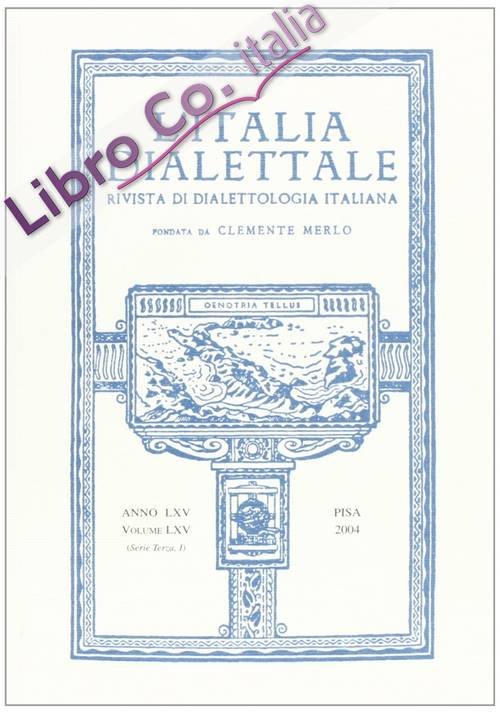 L'Italia dialettale. Rivista di dialettologia italiana