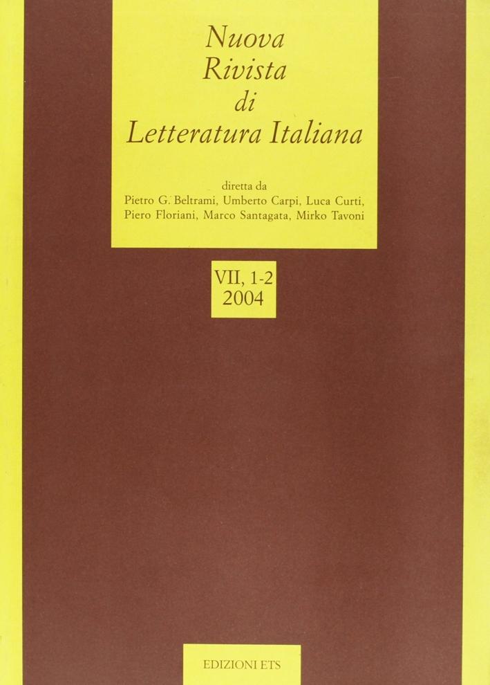 Nuova rivista di letteratura italiana