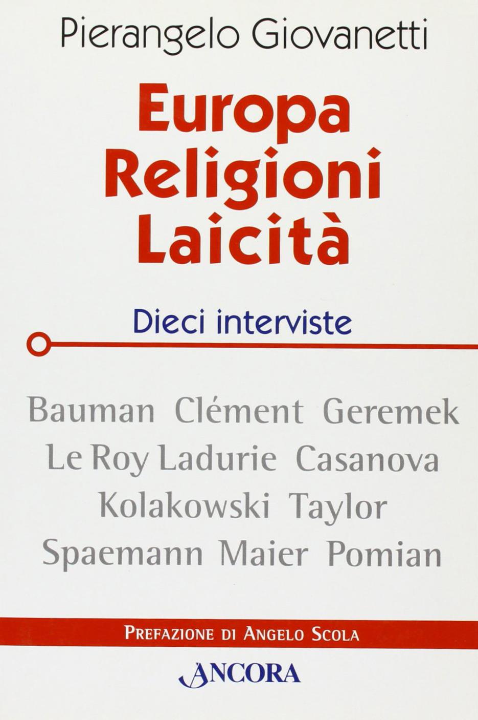 Europa, religioni, laicità. Dieci interviste