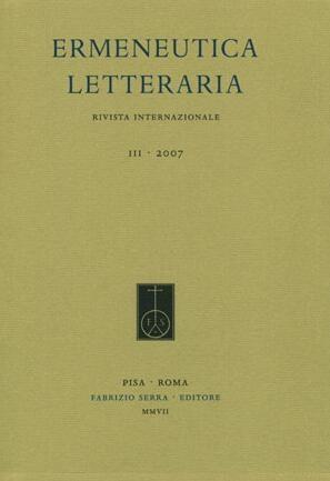 Ermeneutica letteraria. Rivista internazionale. 3. 2007