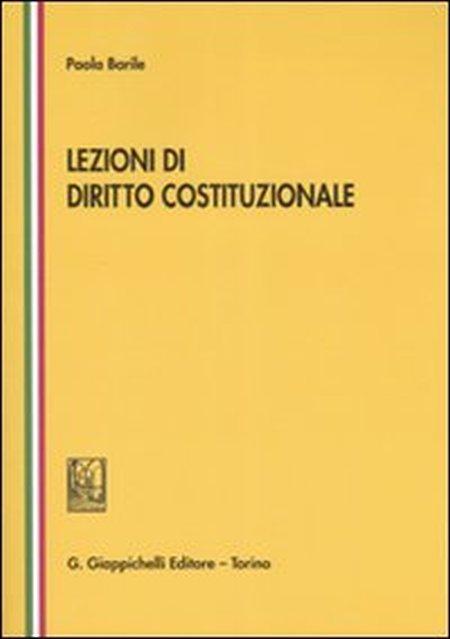 Lezioni di diritto costituzionale.