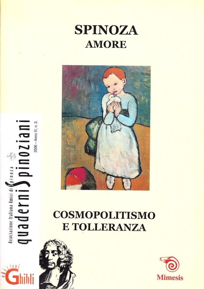 Amore. Cosmopolitismo e tolleranza