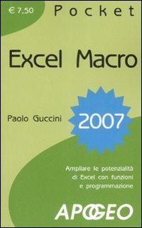 Excel macro 2007.