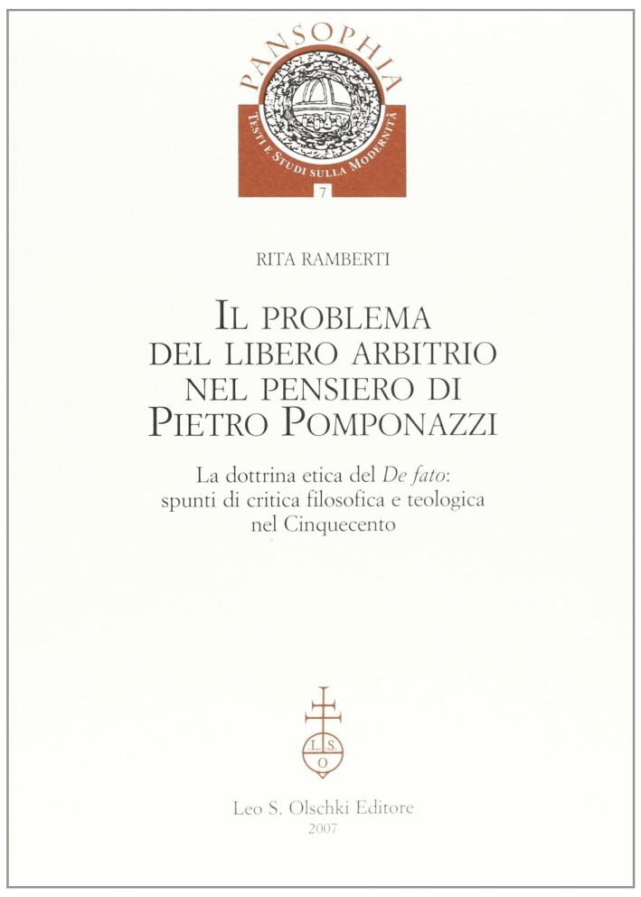 Il problema del libero arbitrio di Pietro Pomponazzi