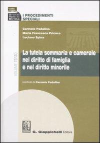 La tutela sommaria e camerale nel diritto di famiglia e nel diritto minorile. Volume III