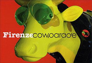 Cartolina. Cow parade - Firenze 2005. Moo jeans, particolare