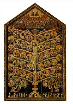 Cartolina. Firenze - Galleria dell'Accademia. Albero della Vita (1305-1310 circa)