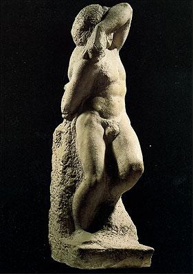 Cartolina. Firenze - Galleria dell'Accademia. Prigioni