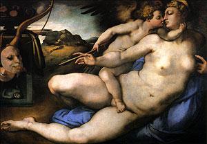 Cartolina. Firenze - Galleria dell'Accademia. Venere e Amore (1535 circa)