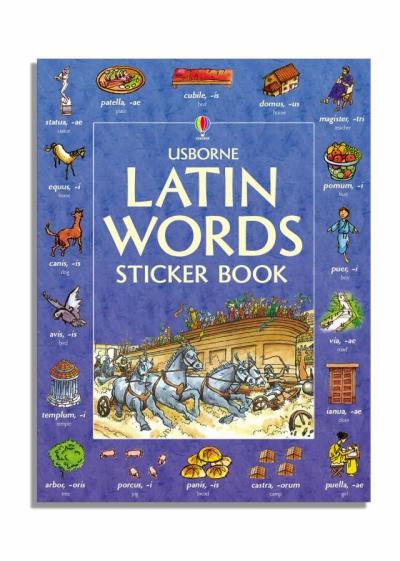 Latin Words Sticker Book.