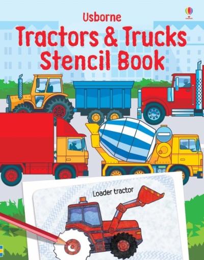 Tractors Stencil Book