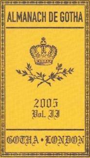 Almanach de Gotha II: 2006: III. Non-Sovereign Princely and Ducal Houses of Europe: The 200 Non-Royal Principle Aristocratic Eur