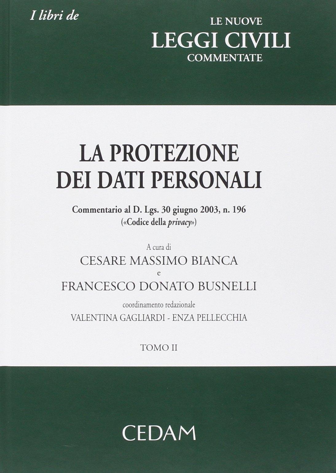 La protezione dei dati personali. Commentario al D. Lgs. 30 giugno 2003, n. 196 «Codice della privacy»