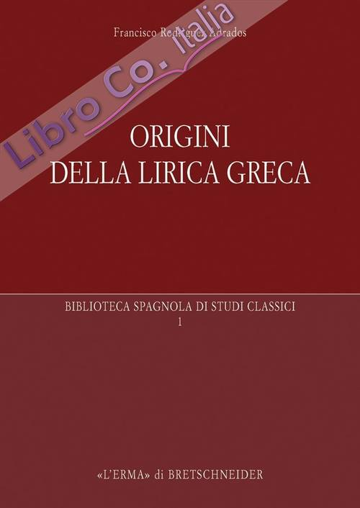 Origini della Lirica Greca.