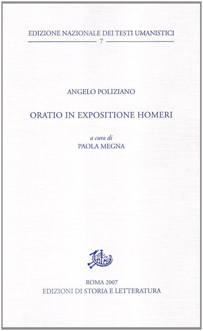 Oratio in expositione Homeri.