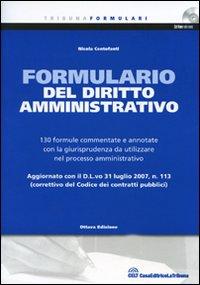 Il formulario del diritto amministrativo. Con CD-ROM