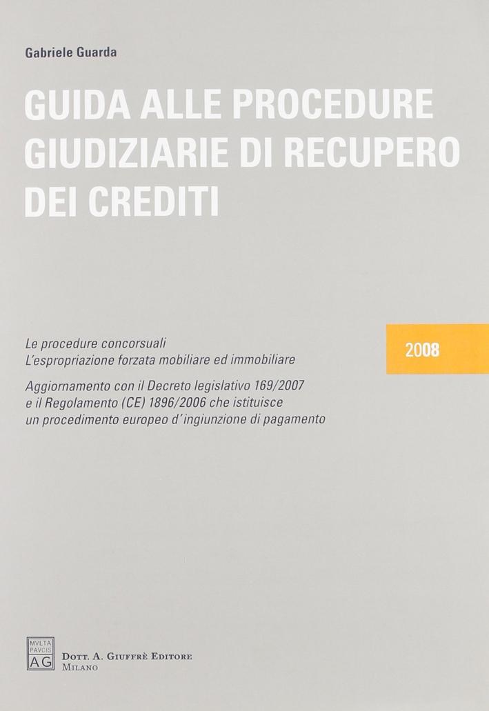 Guida alle procedure giudiziarie di recupero dei crediti
