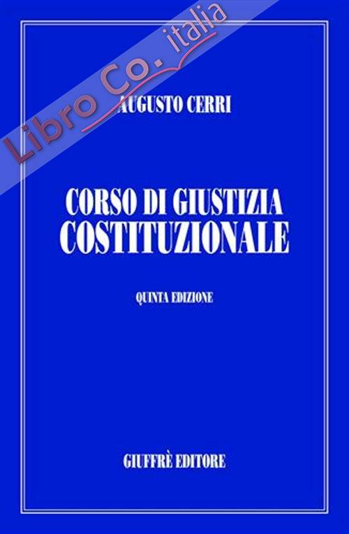 Corso di giustizia costituzionale