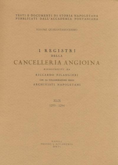 I registri della cancelleria angioina XLIX