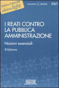 I reati contro la pubblica amministrazione. Nozioni essenziali