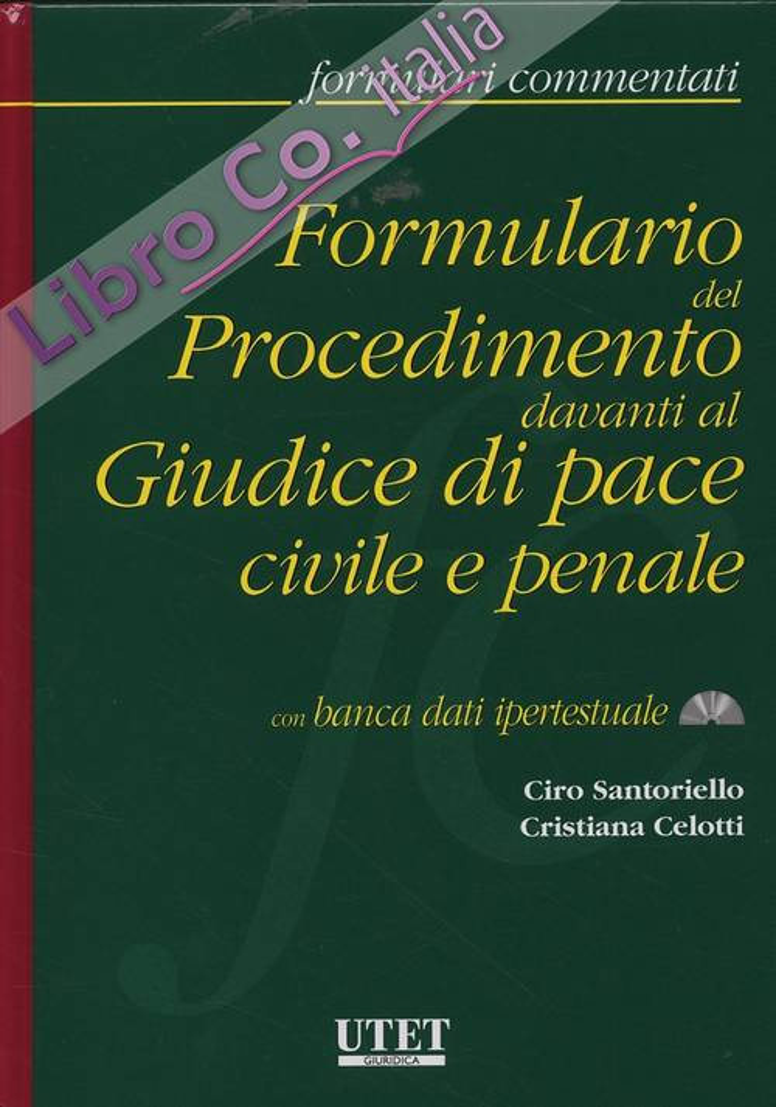 Formulario del Procedimento davanti al Giudice di pace civile e penale. [Con DVD]