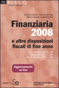 Finanziaria 2008 e altre disposizioni fiscali di fine anno