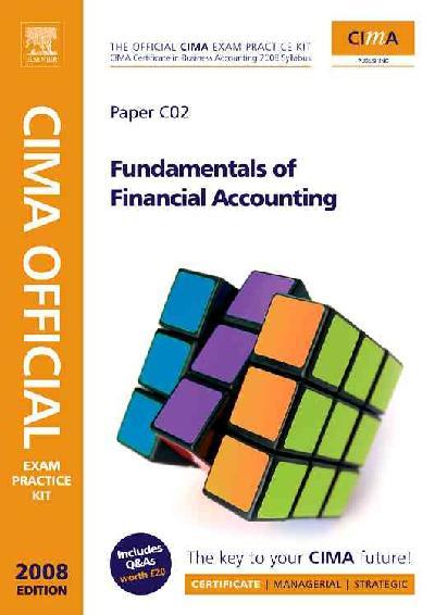 CIMA Exam Pract Kit Fundament Finan Acco.