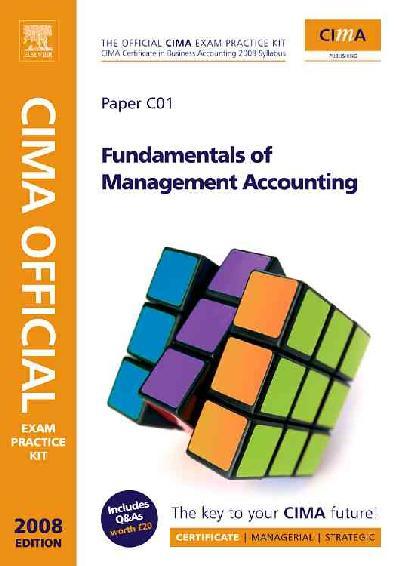 CIMA Exam Pract Kit Fundament Management