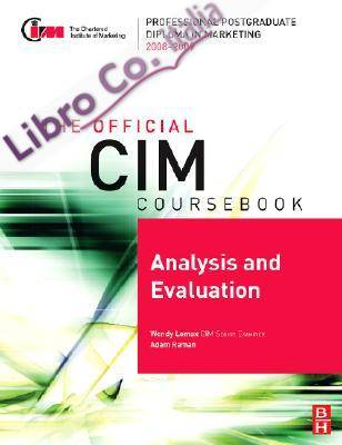 CIM Coursebook Analysis & Evaluation.