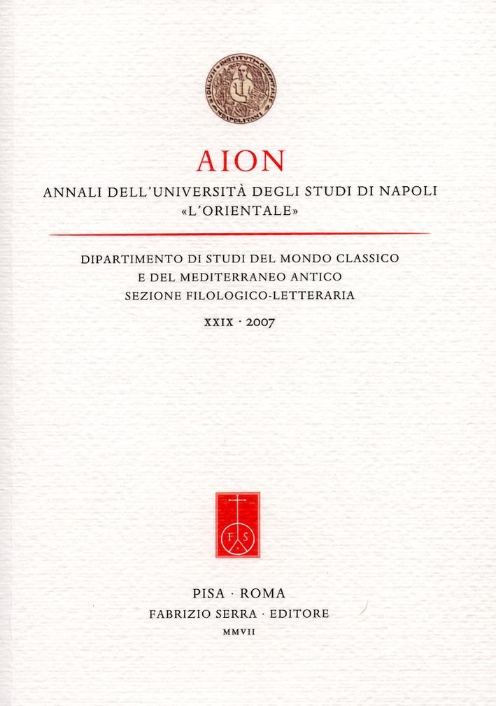 AION. Annali dell'Università degli Studi di Napoli