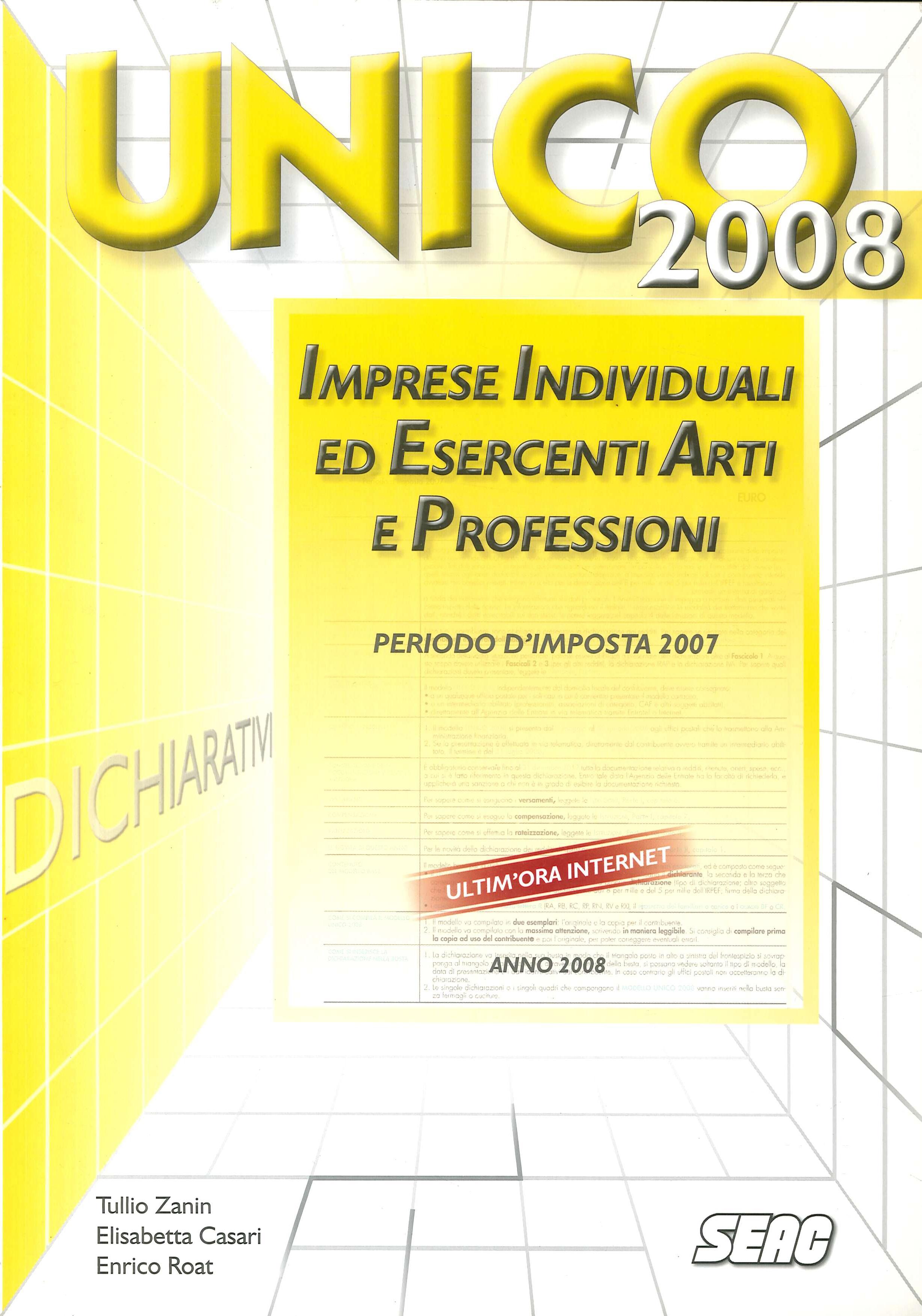 Unico 2008. Imprese individuali ed esercenti arti e professioni