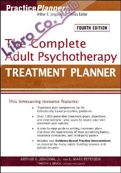 Complete Adult Psychotherapy Treatment Planner.