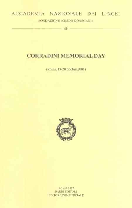 Corradini memorial day. Vol. 40