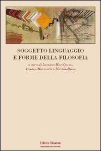 Soggetto, linguaggio e forme della filosofia.