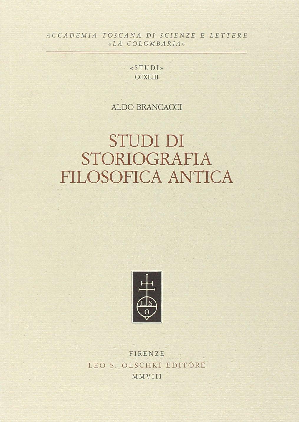 Studi di storiografia filosofica antica.