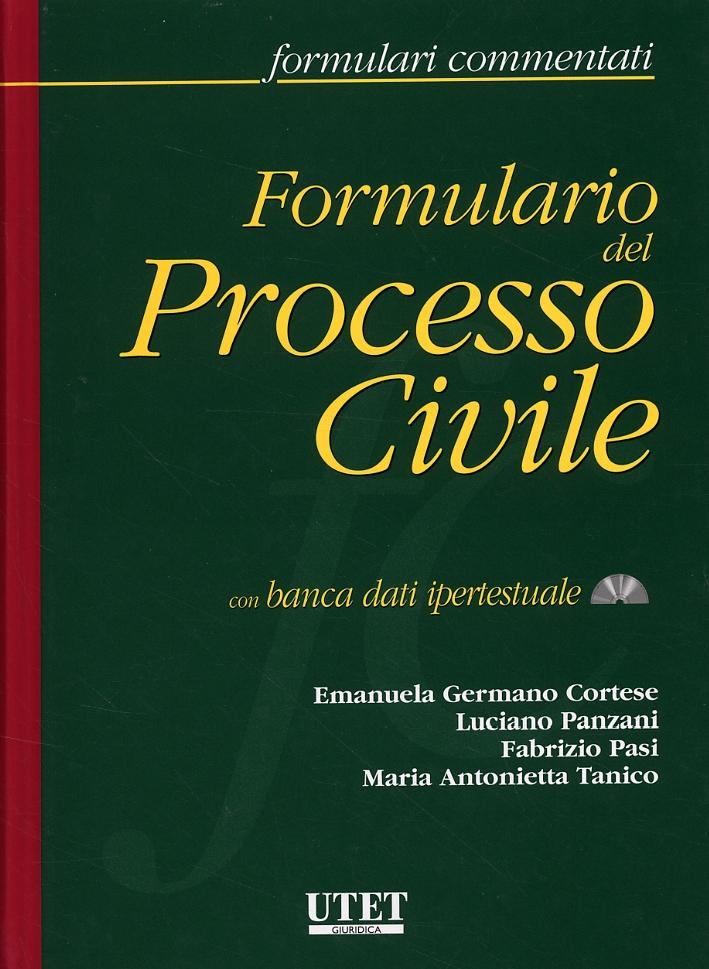 Formulario del Processo Civile. [Con CD-ROM]